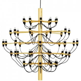Designerski żyrandol ze stali węglowej Gino Gold 100