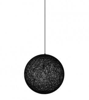 Lampa wisząca z okrągłym kloszem ze sznurków konopnych Luna 40