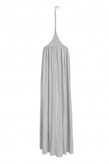 Szary baldachim sufitowy z tkaniny lnianej