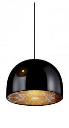 Designerska lampa wisząca z metalu i stali nierdzewnej Moldura