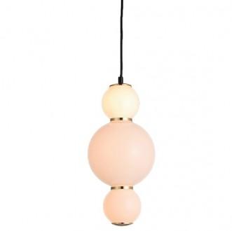 Lampa wisząca z kloszem z mlecznego szkła Perla