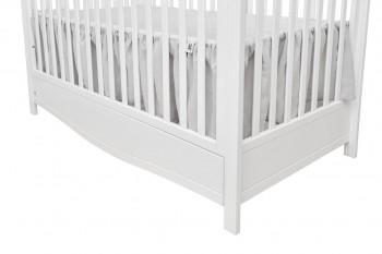 Szara falbanka do łóżeczka dziecięcego z tkaniny lnianej