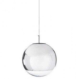 Lampa wisząca z okrągłym kloszem ze szkła Reflex Up 25