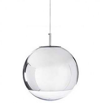 Lampa wisząca z okrągłym kloszem ze szkła Reflex Up 40