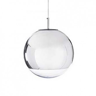 Lampa wisząca z okrągłym kloszem ze szkła Reflex Up 50