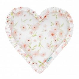 Dekoracyjna poduszka w kształcie serca Blossom