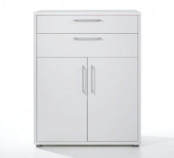 Regał biurowy z szufladami i niskimi drzwiami Prima biały