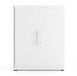 Regał biurowy z drzwiami Prima 2 biały