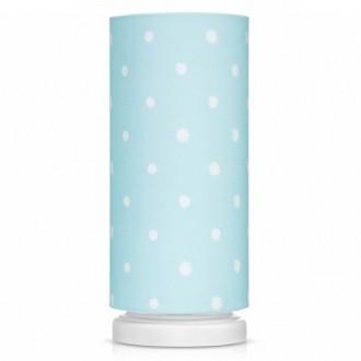 Lampka nocna z materiałowym kloszem w groszki Lovely Dots