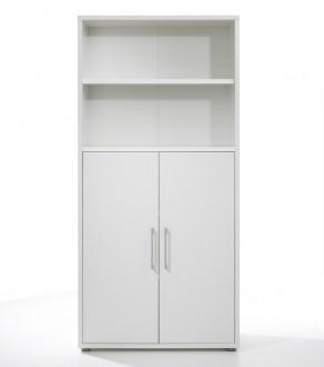 Regał biurowy 2-drzwiowy Prima biały