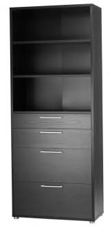 Regał do biura z szufladami Prima 5 czarny