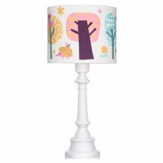 Dekoracyjna lampa z kolorowym kloszem Sowie Opowieści