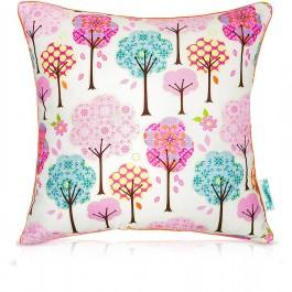 Dwustronna poduszka dekoracyjna dla dziewczynki Bajkowy Las