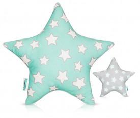 Dwukolorowa poduszka dekoracyjna dla dziecka Stars