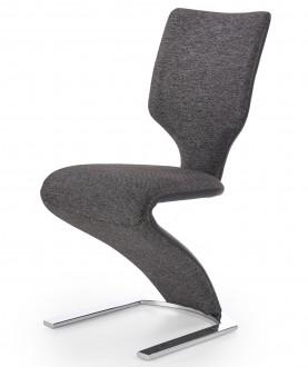 Tapicerowane krzesło do jadalni na jednej nodze K307