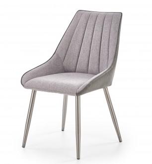 Tapicerowane krzesło do jadalni z niskimi podłokietnikami K311