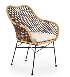 Rattanowe krzesło na metalowych nogach K336