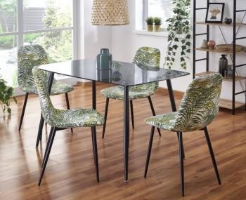 Nowoczesny stół do jadalni ze szklanym blatem Next czarny