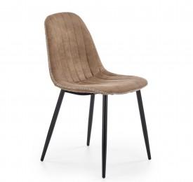 Tapicerowane krzesło do jadalni z lamówką K328