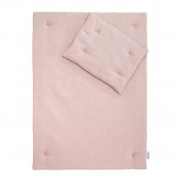 Pościel z tkaniny muślinowej do łóżeczka dziecięcego w gwiazdki