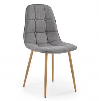 Pikowane krzesło do jadalni tapicerowane tkaniną K316