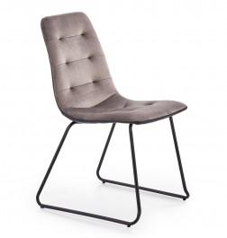 Tapicerowane krzesło z pikowaniem K321