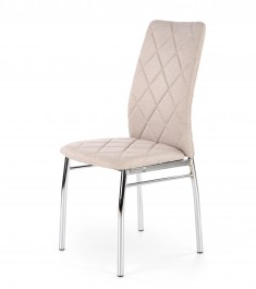 Tapicerowane krzesło do jadalni na metalowych nogach K309