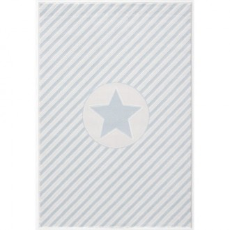 Prostokątny dywan w paski do pokoju dziecięcego Decostar