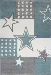 Wzorzysty dywan do pokoju chłopięcego Gwiazdy i Kwadraty