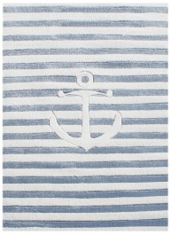 Marynistyczny dywan do pokoju dziecięcego w paski