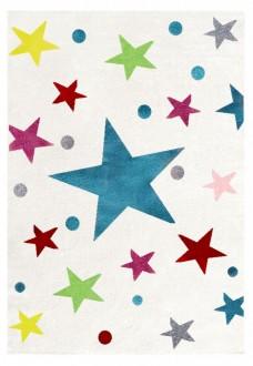 Dywan z kolorowymi gwiazdkami do pokoju dziecka Magic Stars