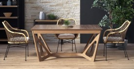Fornirowany stół do jadalni Wenanty orzech amerykański