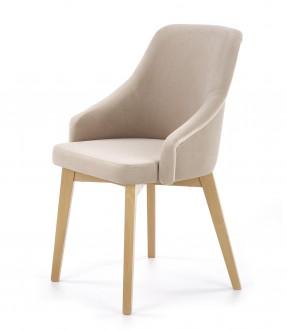 Tapicerowane krzesło do jadalni na drewnianych nogach Toledo 2