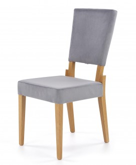 Tapicerowane krzesło do jadalni z wysoką formą oparcia Sorbus