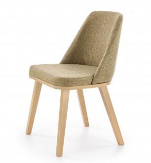 Tapicerowane krzesło do jadalni z niskim oparciem Pueblo