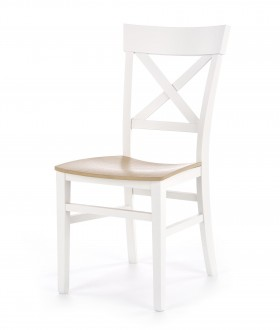 Krzesło do jadalni ze zdobionym oparciem Tutti