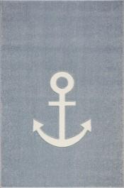 Prostokątny dywan z kotwicą do pokoju chłopięcego