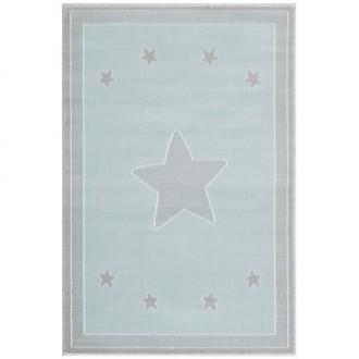 Pastelowy dywan z gwiazdkami do pokoju dziecka Pastel Mint
