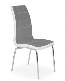 Krzesło do jadalni z białymi obszyciami K347