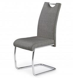 Tapicerowane krzesło do jadalni na płozach K349