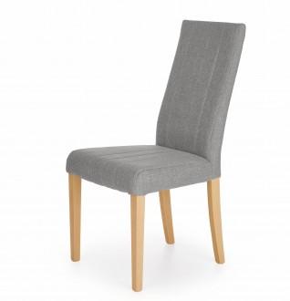Tapicerowane krzesło na nogach w kolorze dębu miodowego Diego