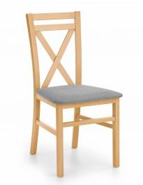 Drewniane krzesło z tapicerowanym siedziskiem Dariusz dąb miodowy