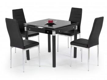 Stół rozkładany ze szklanym blatem Kent czarny