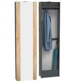 Szafa obrotowa płaska 2 x Garderoba z lustrem COP 2G2L