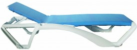 Leżak na kółkach z regulowanym oparciem Acqua