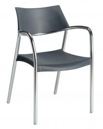 Krzesło do kawiarni i ogrodu z podłokietnikami Splash