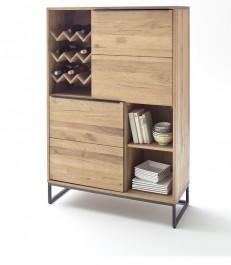 Wysoka komoda z półkami na wino Wild w stylu industrialnym