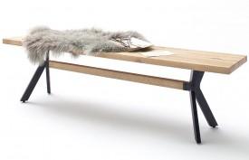Drewniana ławka bez oparcia Wild w stylu industrialnym