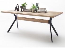 Stół z fornirowanym blatem Wild 220 w stylu industrialnym