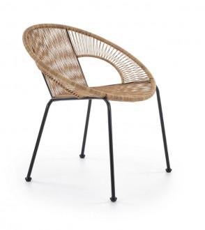 Krzesło ogrodowe z rattanu syntetycznego Bari